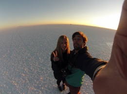 Salar de Uyuni selfie.