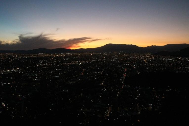 Santiago night.