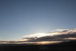 Morning sun.