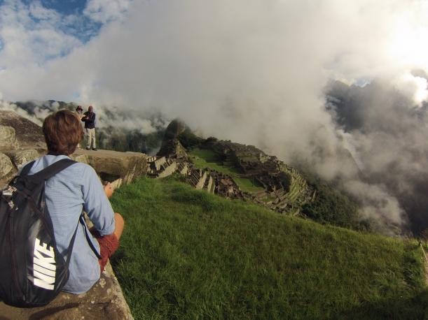 Watching Picchu.