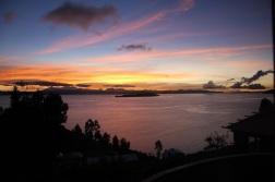 Sunrise at Isla del Sol.
