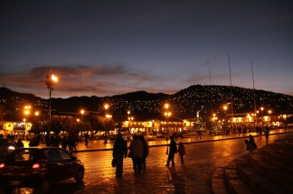 Cuzco by night.