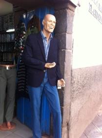Too happy mannequin.