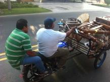 Guys on motorcycle, Lima, Peru