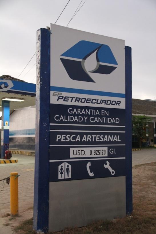 Cheap petrol, Ecuador