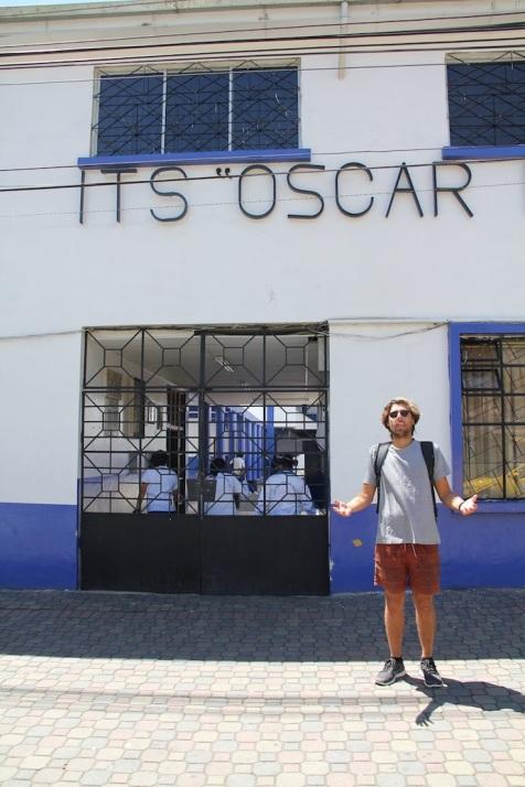 It's Oscar in Baños, Ecuador