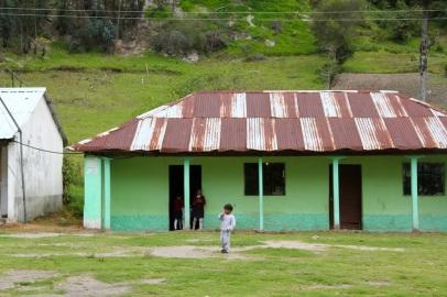 Local school during The Quilotoa Loop, Ecuador