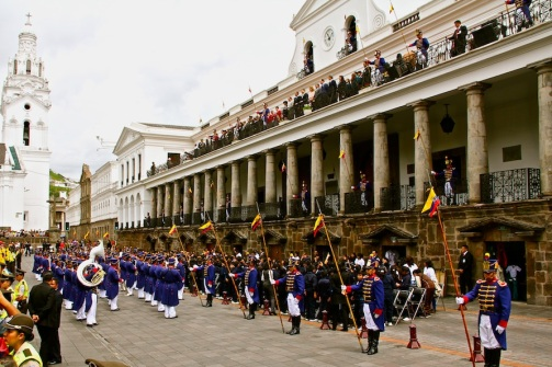 Changing of the Guards, Quito, Ecuador