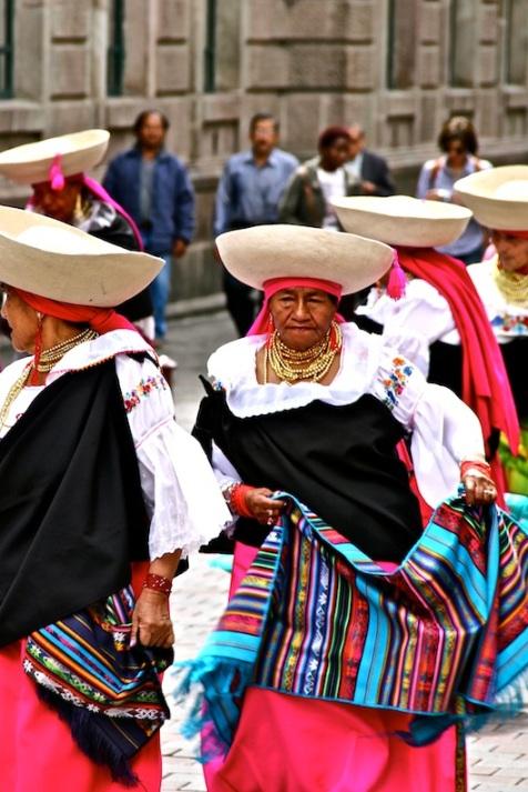 Indigenous Ecuadorians in Quito, Ecuador