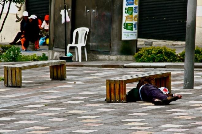 Homeless in Quito, Ecuador