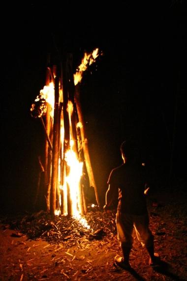 Campfire, Misahualli, Ecuador