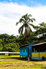 Local school. Amazon jungle in Misahualli, Ecuador