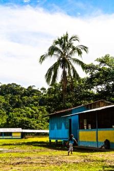 Local school. Amazon jungle in Misahualli, Ecuador