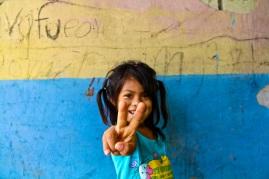 Local girl at school. Amazon jungle in Misahualli, Ecuador