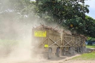 Sugar cane trucks in Guayabito, Colombia