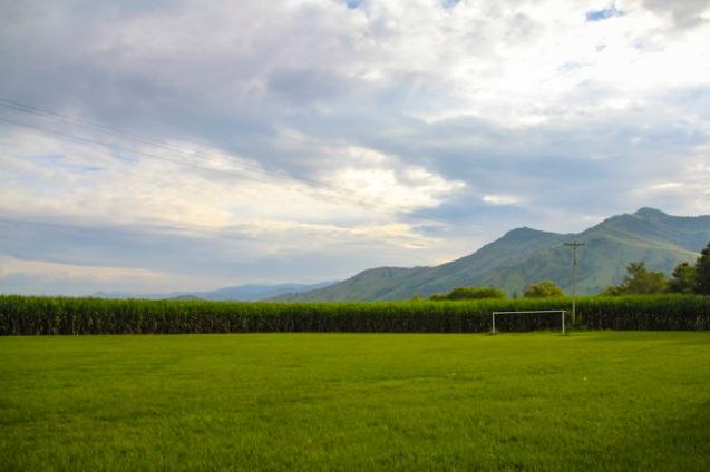 Football field in Guayabito, Colombia