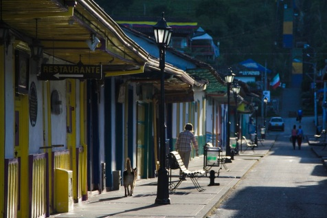 Main street, Salento, Colombia