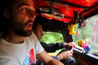 Local taxi, Salento, Colombia