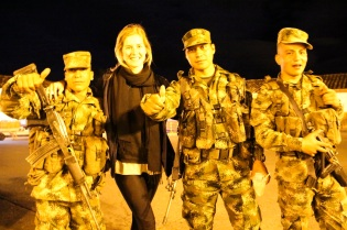 Colombian army in Salento