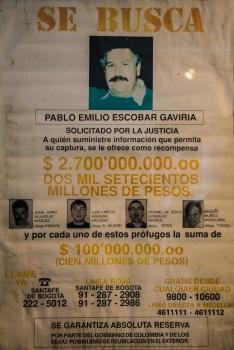 Pablo Escobar wanted poster