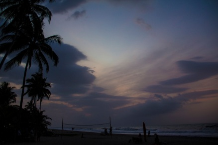 Sunset in Palomino beach, Colombia