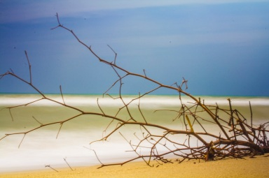 Long exposure in Costeño beach, Colombia