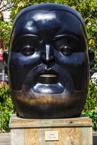 """""""Head"""" Botero Plaza, Medellin, Colombia"""