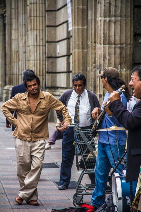 Homeless man, Mexico City