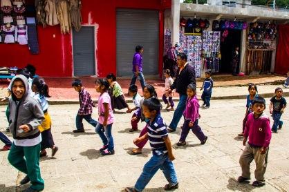 Kids in street, Chomula, Mexico
