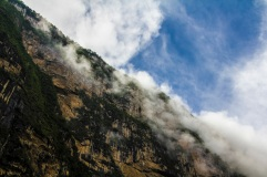 Hanging clouds in Sumidero canyon, Mexico