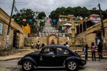 Stairs to church, San Cristóbal de las Casas, Mexico