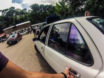 Local taxi to Palenque ruins, Mexico