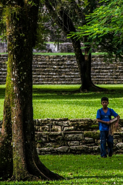 Local boy at Palenque ruins, Mexico