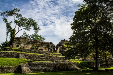 North Group temple, Palenque ruins, Mexico