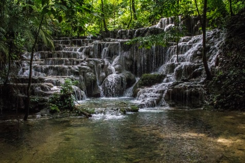 Waterfalls at Palenque, Mexico