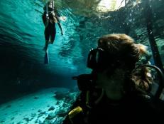 Scuba diving Dos Ojos, Mexico