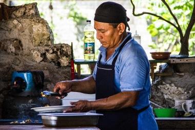 Fish tacos in Tulum, Mexico