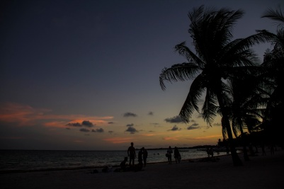 Sunset, Akumal beach, Mexico