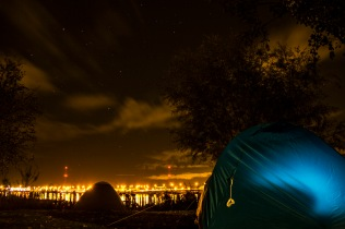 Camping in Amsterdam, Netherlands