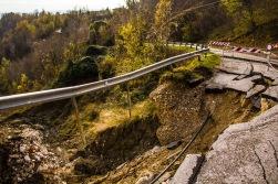 Collapsed road, Veneto, Italy