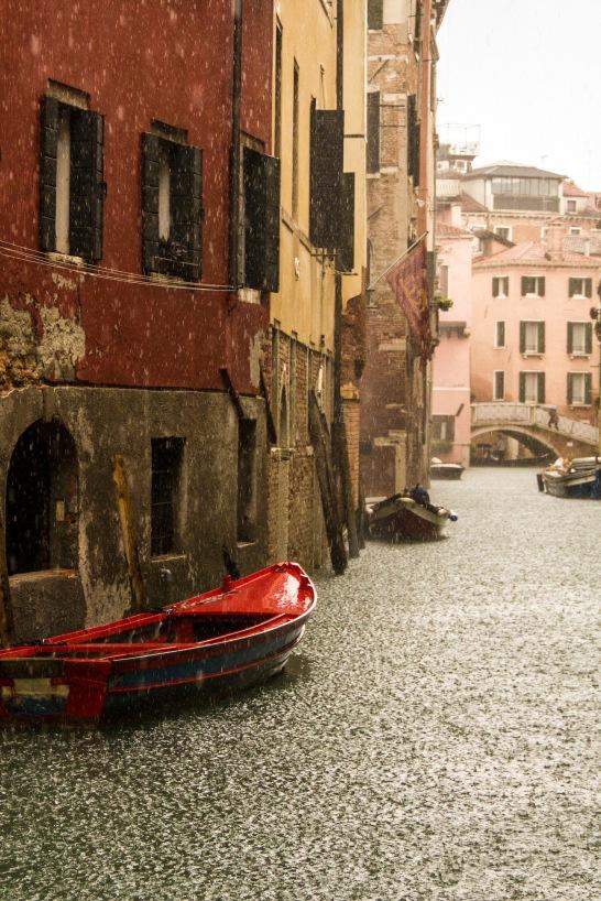 Boats n' rain.