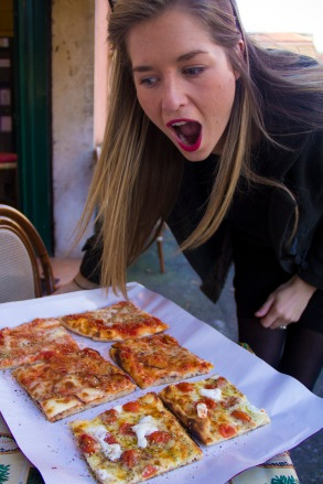 Pizza in Roma