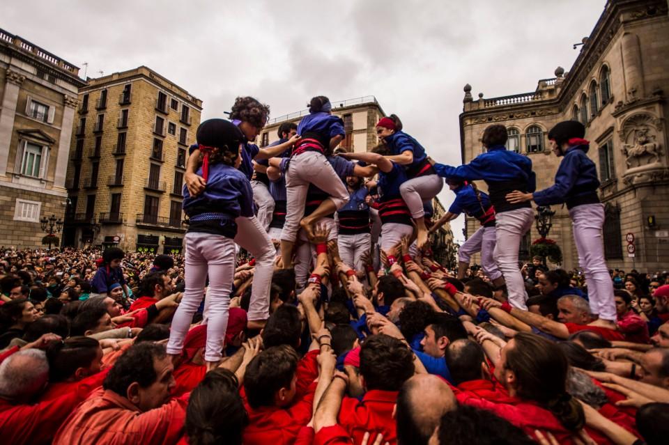 Los castellers, Barcelona